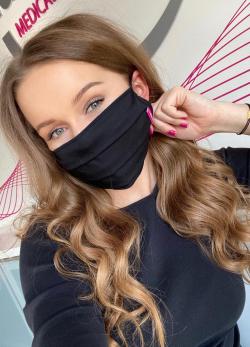 LIPOELASTIC Ochronna bawełniana maska do twarzy - ochrona COVID-19 (koronawirus)